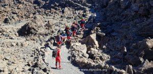 Descenso del Teide de una persona con movilidad reducida utilizando la Joëlette