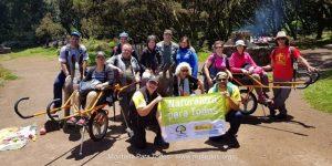 oto de grupo en la 2ª y última salida del programa 'Naturaleza para todos' en el PN de Garajonay