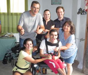 Andrés y su familia