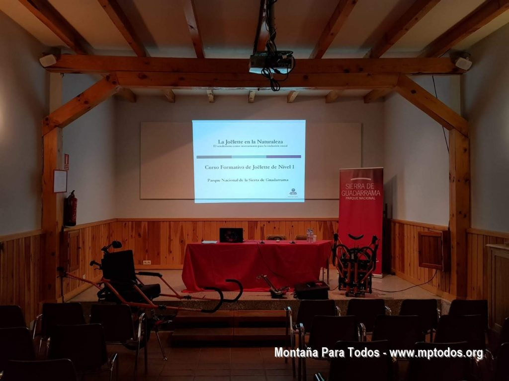 Curso de piloto de Joëlette de nivel 1 en el PN Sierra de Guadarrama