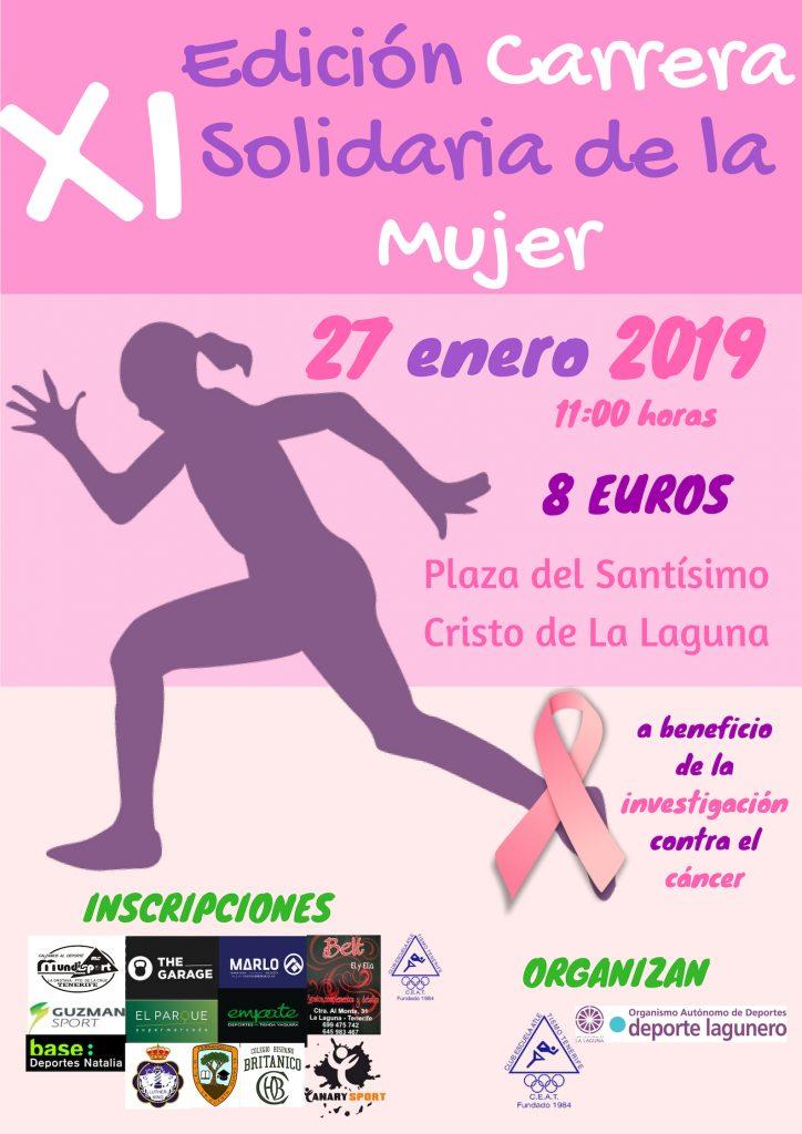 Cartel XI Carrera Solidaria de la Mujer