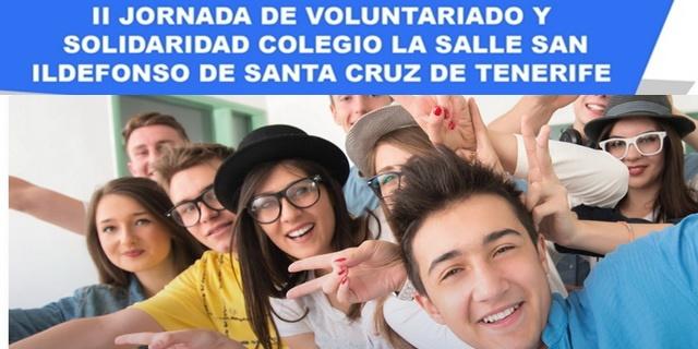 Cartel Jornada Voluntariado y Solidaridad Colegio La Salle