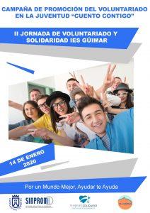Portada Cartel II Jornada de Voluntariado y Solidaridad IES Güímar