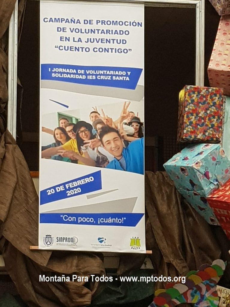 Cartel I Jornada de Voluntariado y Solidaridad IES Cruz Santa