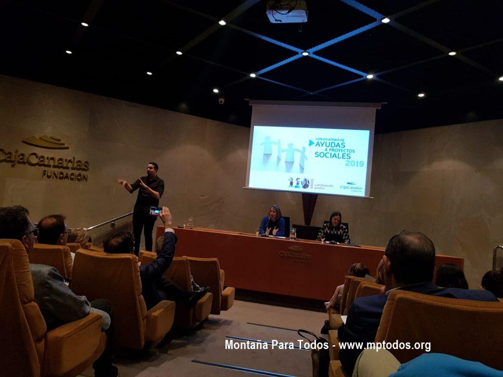 Acto de entrega de la II Convocatoria de Ayudas a Proyectos Sociales de Fundación CajaCanarias