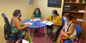 Reunión con la concejal de Juventud del Ayuntamiento de Granadilla de Abona