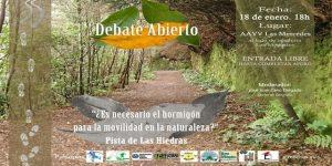 Cartel del debate sobre la Pista de Las Hiedras