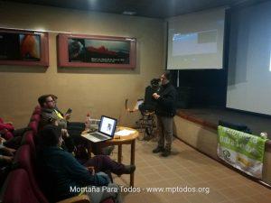 Parte teórica del curso en el Centro de Visitantes de El Portillo (PN del Teide)