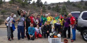 Foto de grupo de los participantes en la I Jornada de Escalada Inclusiva