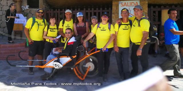 Foto de grupo de MPT en la XIII Ruta Camino del Hermano Pedro